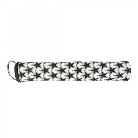 Sac à aiguilles à tricoter en tissu matelassé 45cm grandes étoiles noir et blanc