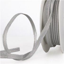Bobine 15m Passepoil métallique argent 20mm