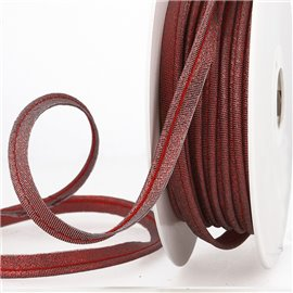Bobine 15m Passepoil métallique rouge 20mm