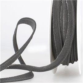 Bobine 15m Passepoil métallique noir 20mm
