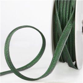 Bobine 15m Passepoil métallique vert foncé 20mm