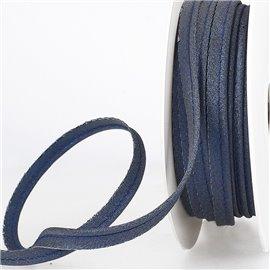 Bobine 15m Passepoil métallique bleu marine 20mm