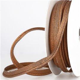Bobine 15m Passepoil métallique cuivre 20mm