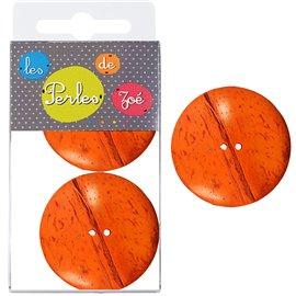 6 Boutons coco 4cm Orange