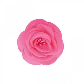 Broche fleur pistils fuchsia
