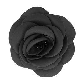 Broche fleur pistils noir
