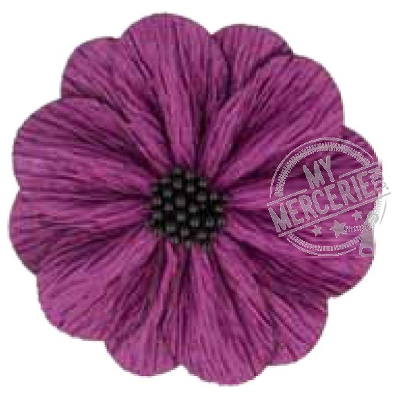 Fleur coquelicot lilac sur broche