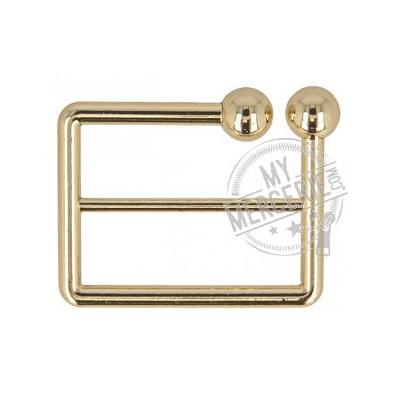 Boucle ceinture zinc dorée 40mm