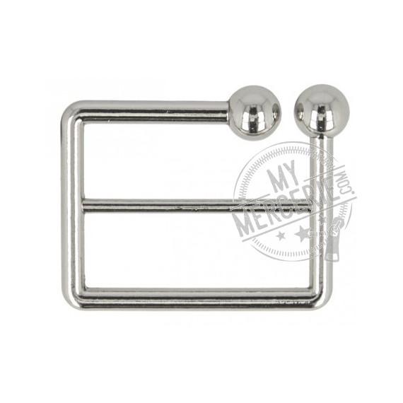 Boucle ceinture zinc argentée 40mm
