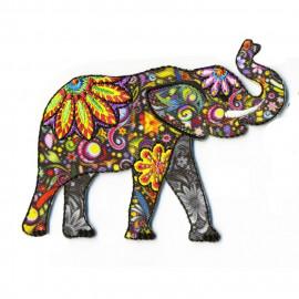 Ecusson thermocollant éléphant coloré