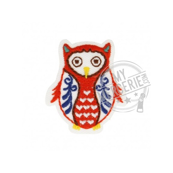 Lot de 3 écussons thermocollants Hibou Babouchka 4cm x 4cm