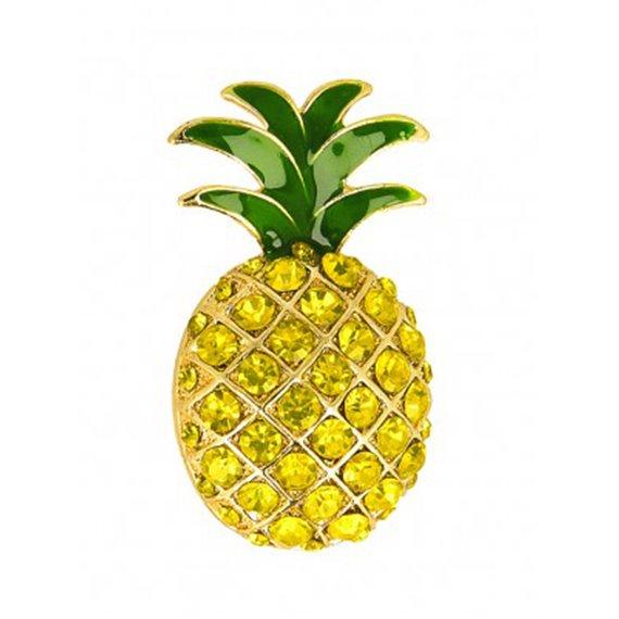 Broche strass Ananas