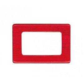 Lot de 4 boucles de sac 1,2x3cm rouge