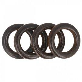 Lot de 4 anneaux de sac en bois 4,4cm marron