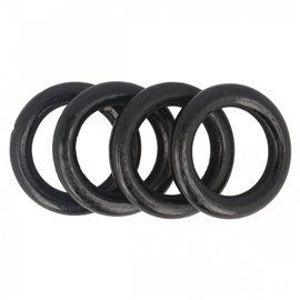 Lot de 4 anneaux de sac en bois 4,4cm noir