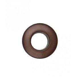 Oeillet plastique 25mm marron