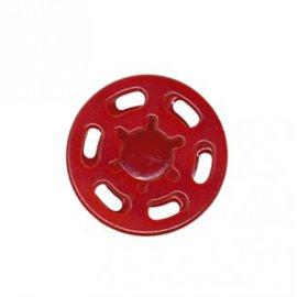 Bouton pression plastique 21mm Rouge