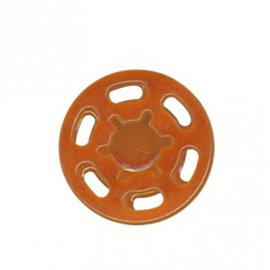 Bouton pression plastique 21mm orange
