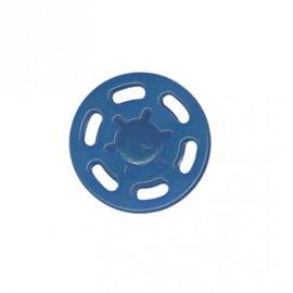 Bouton pression plastique 21mm bleu