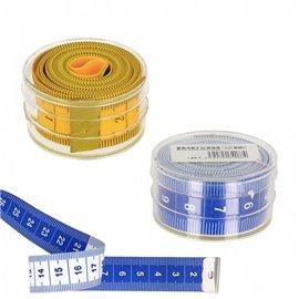 Mètre ruban bleu boîte plastique
