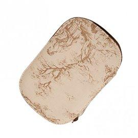 Pochette à couture 16x12cm toile de jouy beige