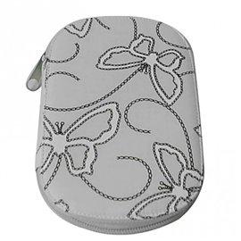 Pochette à couture 16x12cm papillons gris