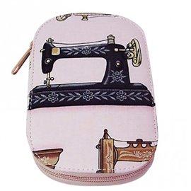 Pochette à couture 16x12cm machine à coudre rose