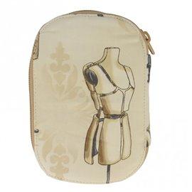 Pochette à couture 16x12cm mannequin beige