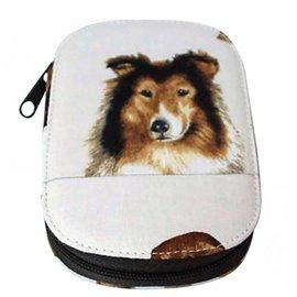 Pochette à couture 16x12cm chien