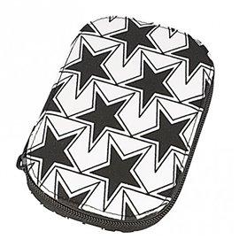 Pochette à couture 16x12cm étoiles noires