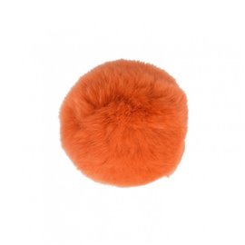 Pompon fourrure lapin 7cm orange