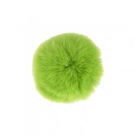Pompon fourrure lapin 7cm vert