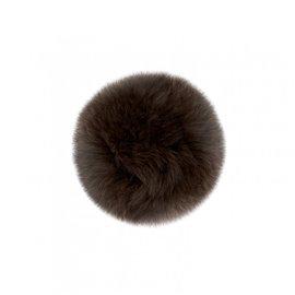 Pompon fourrure lapin 7cm marron