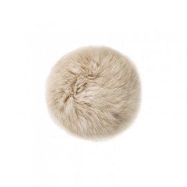 Pompon fourrure lapin 7cm beige