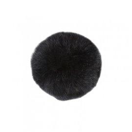Pompon fourrure lapin 7cm noir