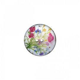Bouton coco décoré champêtre 23cm