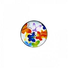 Bouton coco décoré petits papillons 23cm