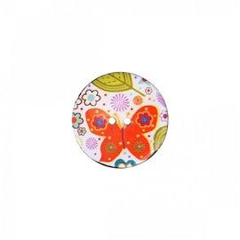 Bouton coco décoré papillons 34cm