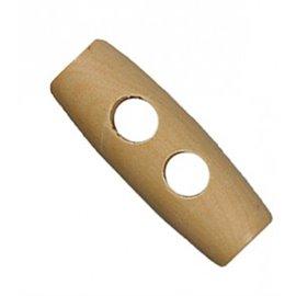 Bouton buchette en bois 2 trous naturel 3cm