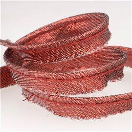 Bobine 25m Dépassant métallisé rouge