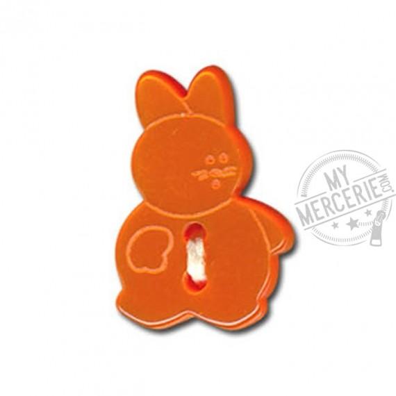Bouton en forme de Lapin couleur Orange
