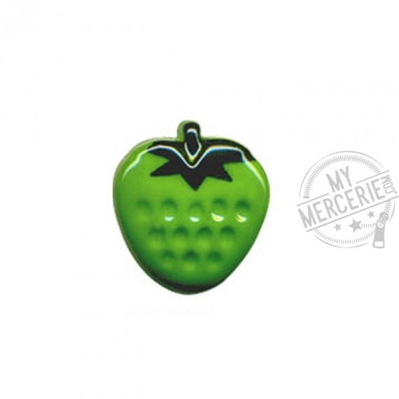 Bouton en forme de Fraise couleur Vert