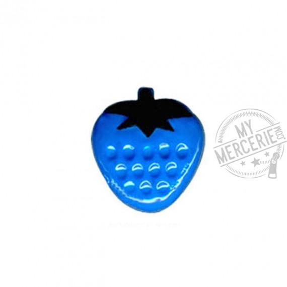 Bouton en forme de Fraise couleur Bleu