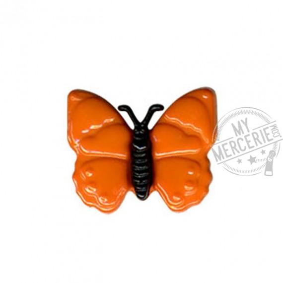 Bouton en forme de Papillon couleur Orange