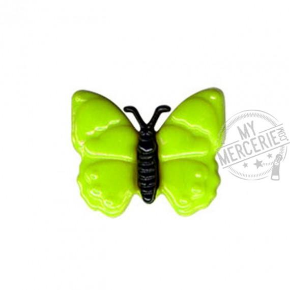Bouton en forme de Papillon couleur Vert