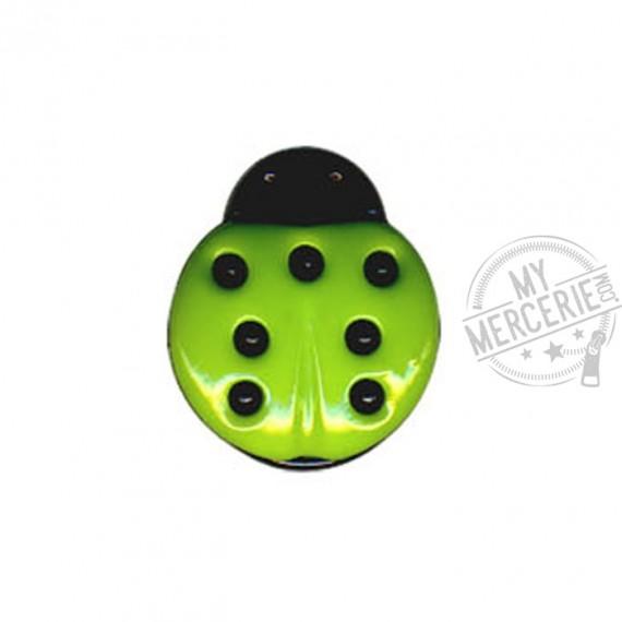 Bouton en forme de Coccinelle couleur Vert