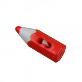 Bouton en forme de crayon couleur Rouge