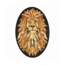Ecusson thermocollant lion 9 cm x 6 cm