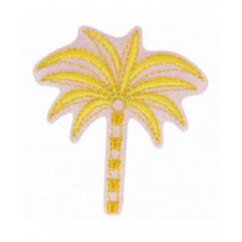 Ecusson thermocollant doré palmier jaune 4,5 cm x 5 cm