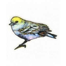 Ecusson thermocollant oiseau mésange 3 cm x 4 cm